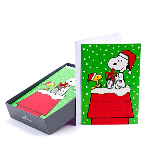 Hallmark Holiday Boxed Cards Snoopy And Woodstock, 16