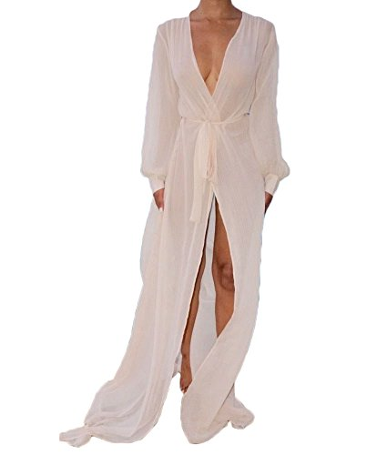 f7404f9eee0d8a Lightweight and comfortable to wear. With belt, adjust the waist. Please  order one or tWO SIZE UP. Sexy v neck swimwear cover-ups.